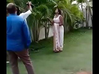 Swathi naidu saree dropping part1 short film shooting