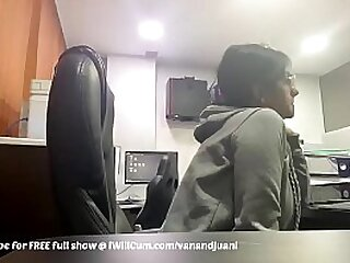 Huge Breasted Indian Mom Plays With In the flesh During Work Fixture At Office